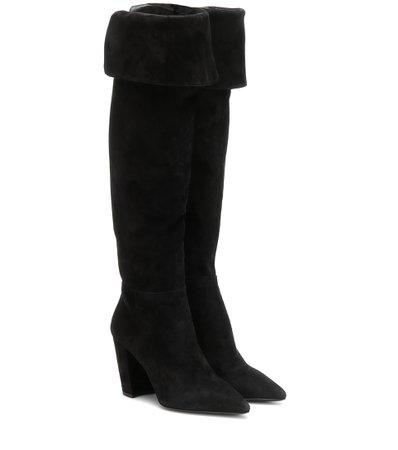 Suede Over-The-Knee Boots | Prada - Mytheresa