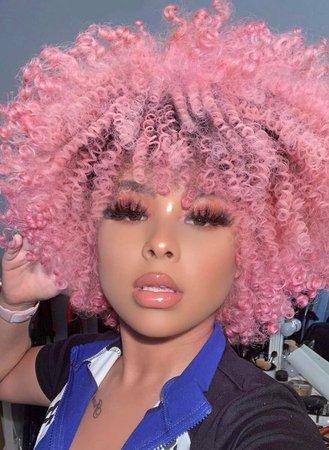 Pink Natural Hair 2