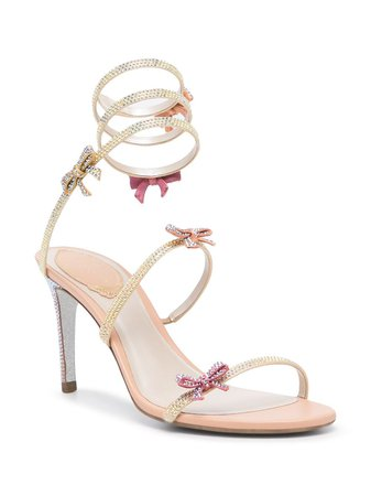René Caovilla Wraparound Leather Sandals - Farfetch