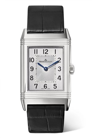 Jaeger-LeCoultre | Reverso Classic Medium Thin 24.4mm stainless steel and alligator watch | NET-A-PORTER.COM