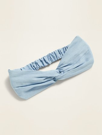 Knotted Chambray Head Wrap For Women | Old Navy