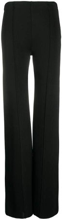 piped seams flared trousers