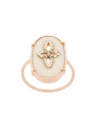 Pascale Monvoisin 9kt Rose Gold SUNDAY WHITE Ring - Farfetch