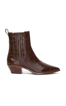 Loeffler Randall Aylin Leather Western Booties