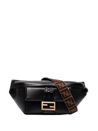 Fendi Baguette logo-print Leather Belt Bag - Farfetch