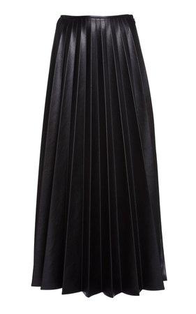 Pleated Vegan Leather Maxi Skirt by Peter Do | Moda Operandi