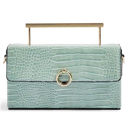 Topshop Croc Boxy Grab Bag   Nordstrom