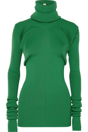 Marni | Ribbed-knit turtleneck sweater | NET-A-PORTER.COM