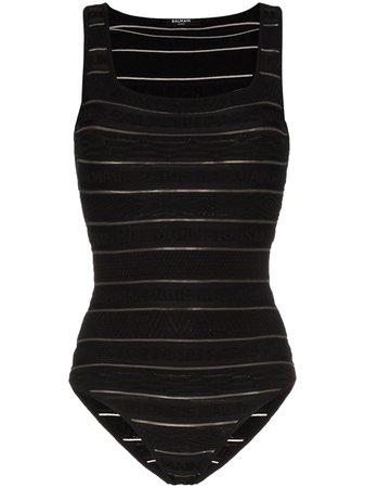 Balmain Logo Stripe Bodysuit - Farfetch