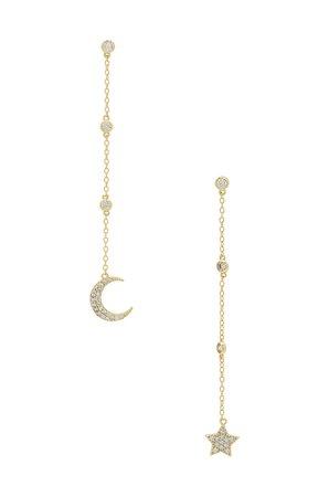 SHASHI Luna Drop Earrings in Gold | REVOLVE