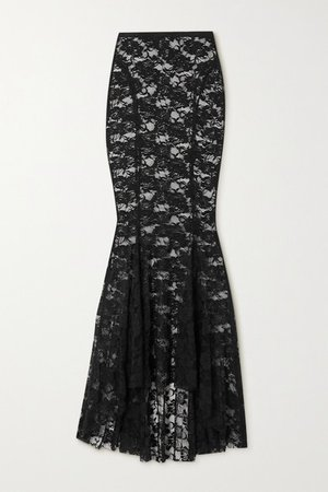 Lace Maxi Skirt - Black