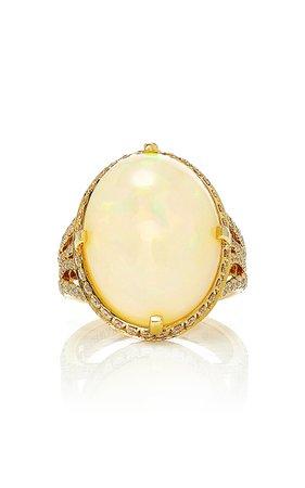 Goshwara G-One' Opal Oval Ring