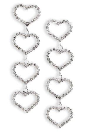 CRISTABELLE Heart Linear Earrings   Nordstrom