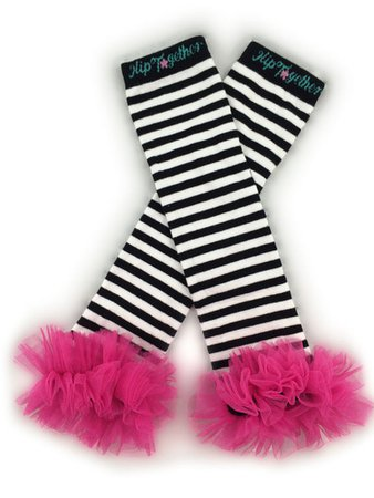 Black & White w/Hot Pink Tutu Leggings - Hip Together