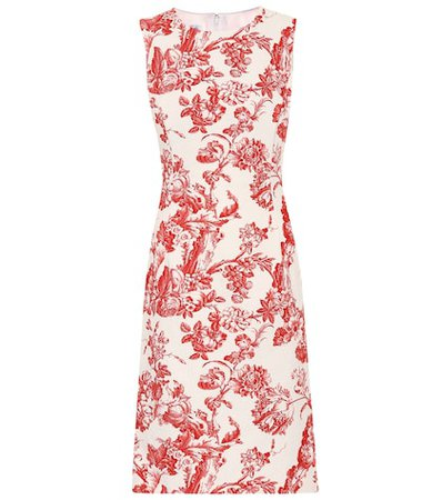 Printed stretch-cotton dress