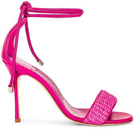 Estrofia 105 Raffia Sandal in Pink | FWRD