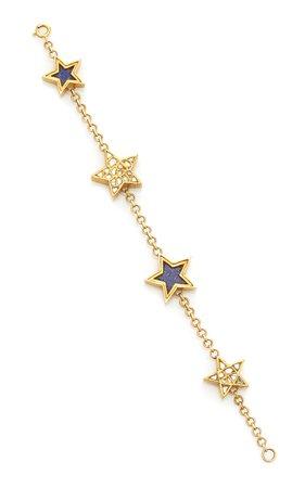 Ouroboros 24K Gold Polki Diamond and Lapis Bracelet