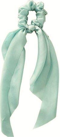mint green hair scarf
