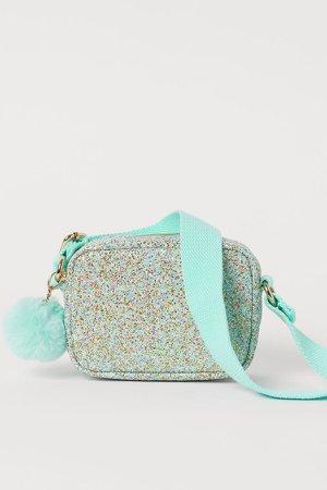 Glittery Shoulder Bag - Green