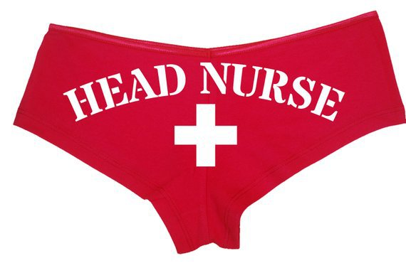 HEAD NURSE RED Boyshort panties funny oral sex joke sexy nurse | Etsy