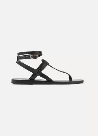 Black Estia leather sandals   Ancient Greek Sandals   NET-A-PORTER