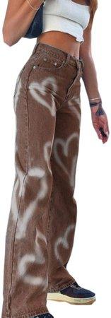 PAODIKUAI Women Patch Flare Jeans Bell Bottom Raw Hem Denim Pants Slim Bootcut Jean at Amazon Women's Jeans store