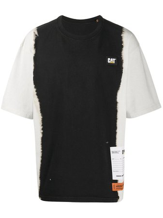 White & black Heron Preston oversized tie-dye T-shirt - Farfetch