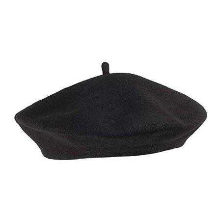 Village Hats Women's Wool Fashion Beret-Black, One Size: Amazon.co.uk: Clothing