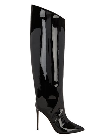 Alex Patent Leather Black Boots | INTERMIX®