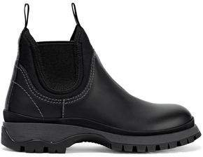 Rodeo Neoprene-trimmed Leather Ankle Boots