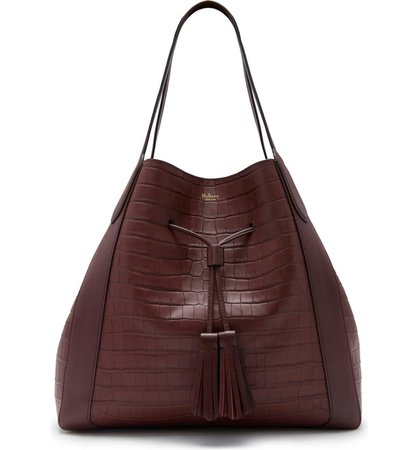 Mulberry Millie Matte Croc Embossed Leather Tote | Nordstrom
