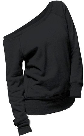 off one shoulder black sweater - Google Search