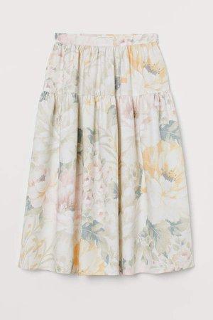 Patterned Skirt - White