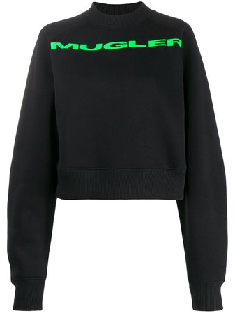 Mugler Logo Printed Sweatshirt - Farfetch