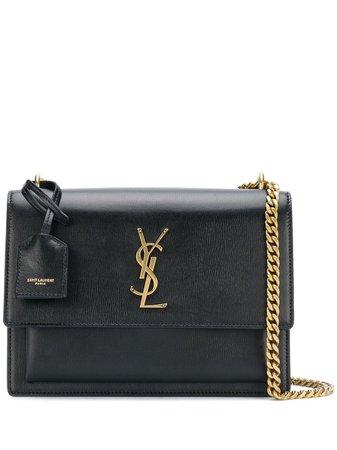 Saint Laurent Sunset Chain Bag 442906D420W Black | Farfetch