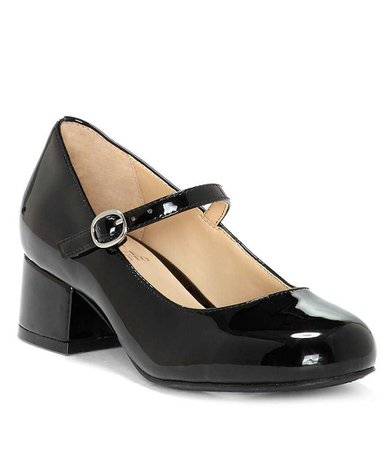 Vince Camuto Girls' Brenna Patent Block Heel Mary Janes | Dillards