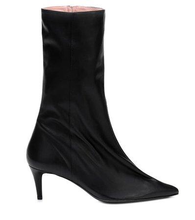 Leather Ankle Boots - Acne Studios | Mytheresa