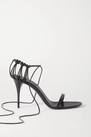SAINT LAURENT | Lexi lace-up leather sandals | NET-A-PORTER.COM