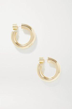 Gold Kevin gold-plated hoop earrings | Jennifer Fisher | NET-A-PORTER
