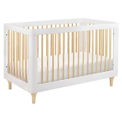 Amazon.com : Babyletto Lolly 3-in-1 Convertible Crib with Toddler Bed Conversion Kit, White/Natural : Baby