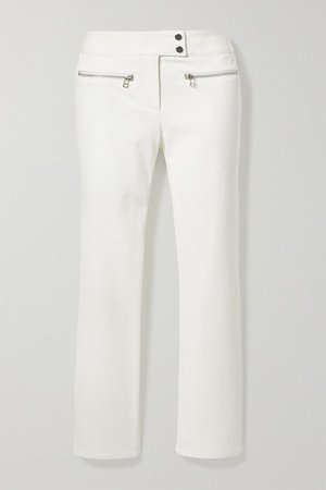 Metro Cropped Stretch-twill Flared Pants - White