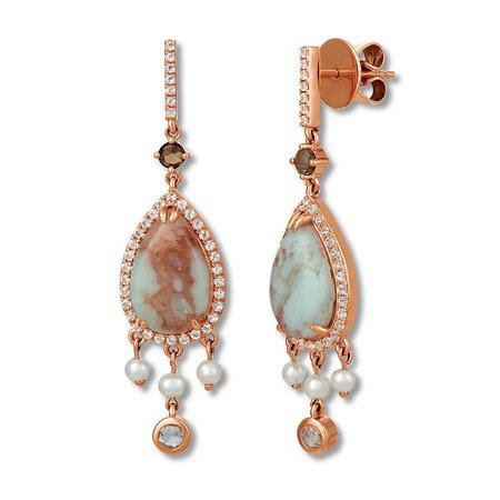 Le Vian Aquaprase Earrings Topaz & Cultured Pearl 14K Gold | Pearl Earrings | Earrings | Jewelry | Jared