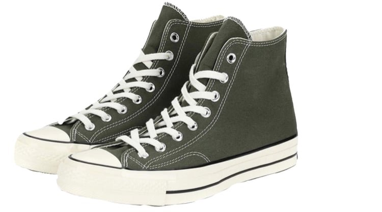 Green converse shared by Lill-Marie on We Heart It