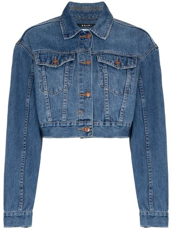 Ksubi Jett Cropped Denim Jacket - Farfetch
