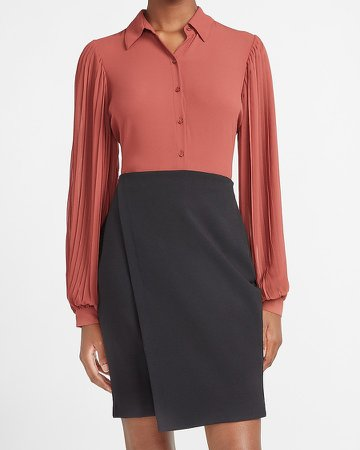 High Waisted Supersoft Wrap Front Pencil Skirt