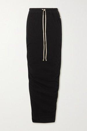 Gonna Appliqued Cotton-jersey Maxi Skirt - Black