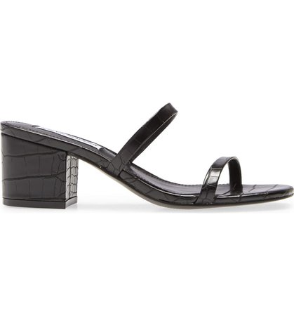 Steve Madden Issy Block Heel Slide Sandal (Women) | Nordstrom