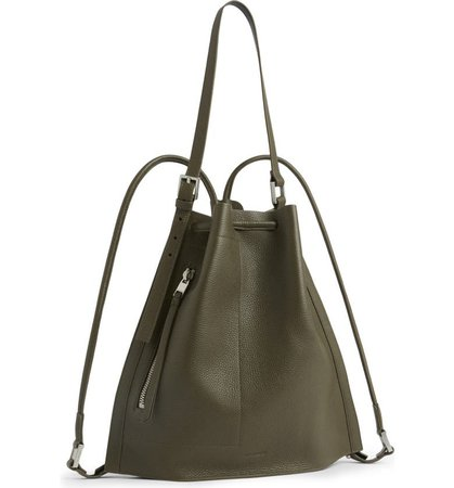 Alpha Convertible Leather Backpack   Nordstrom