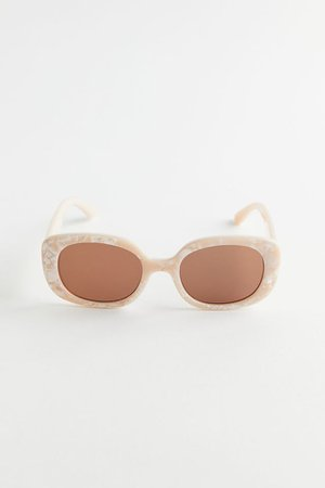 Claro Chunky Rectangle Sunglasses | Urban Outfitters