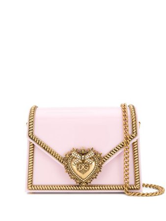 Shop pink & gold Dolce & Gabbana Devotion shoulder bag with Express Delivery - Farfetch